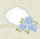 Fundo floral com rosas ilustração royalty free