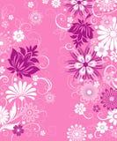 Fundo floral cor-de-rosa Ilustração Stock