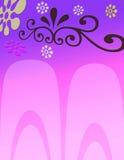 Fundo floral cor-de-rosa ilustração do vetor