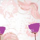 Fundo floral cor-de-rosa abstrato Fotografia de Stock Royalty Free