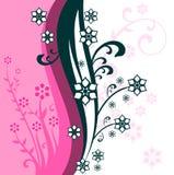 Fundo floral cor-de-rosa abstrato ilustração royalty free