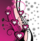 Fundo floral cor-de-rosa abstrato Imagem de Stock