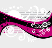 fundo floral Cor-de-rosa-cinzento imagens de stock