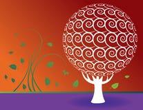 Fundo floral da árvore ilustração stock