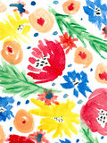 Fundo floral da aquarela Fotografia de Stock Royalty Free