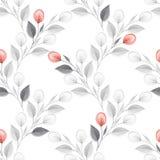 Fundo floral da aquarela Flores vermelhas Teste padrão sem emenda Foto de Stock Royalty Free