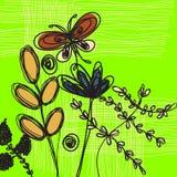 Fundo floral da arte ilustração do vetor