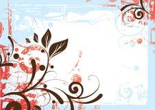Fundo floral da beira Fotos de Stock Royalty Free