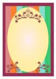 Fundo floral da beira das decorações do redemoinho Imagem de Stock