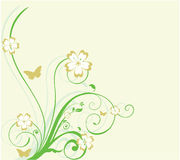 Fundo floral da curva Imagens de Stock Royalty Free