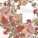 Fundo floral da forma com flores Imagens de Stock