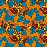 Fundo floral da garatuja bonita Imagens de Stock Royalty Free