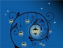 Fundo floral da noite incomun ilustração do vetor
