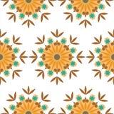 Fundo floral da repetição do caleidoscópio sem emenda Fotos de Stock Royalty Free