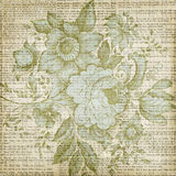 Fundo floral da textura do vintage marrom sujo Foto de Stock