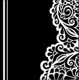 Fundo floral de B&w ilustração stock