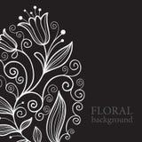 Fundo floral de Balck Fotos de Stock