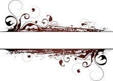 Fundo floral de Brown Imagem de Stock Royalty Free