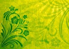 Fundo floral de Grunge Fotos de Stock Royalty Free