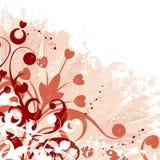 Fundo floral de Grunge Fotografia de Stock
