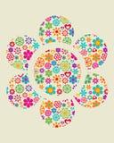 Fundo floral de Grunge - 4 ilustração royalty free