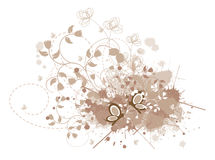 Fundo floral de Grunge Imagens de Stock