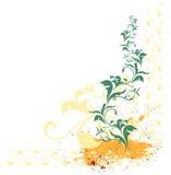 Fundo floral de Grunge Fotografia de Stock Royalty Free