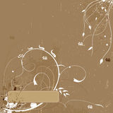 Fundo floral de Grunge Imagem de Stock Royalty Free