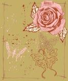 Fundo floral de Grunge Imagens de Stock Royalty Free