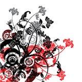 Fundo floral de Grunge, vetor Imagens de Stock
