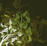 Fundo floral de Grunge, vetor Imagens de Stock Royalty Free