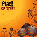 Fundo floral de Halloween Fotografia de Stock Royalty Free