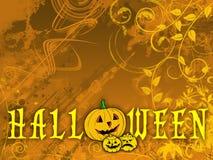Fundo floral de Halloween ilustração stock