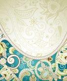 Fundo floral de turquesa abstrata Fotos de Stock