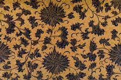 Fundo floral do vintage do Batik Imagens de Stock Royalty Free