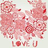 Fundo floral do amor Fotos de Stock Royalty Free