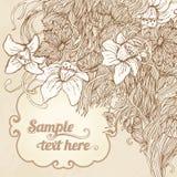 Fundo floral do cartão do vintage do convite ilustração stock