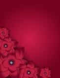 Fundo floral do cartão da flor abstrata Imagens de Stock