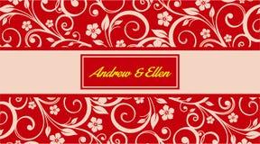 Fundo floral do convite do espelho Imagem de Stock Royalty Free