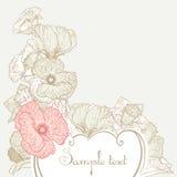 Fundo floral do estilo do vintage Foto de Stock Royalty Free