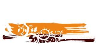 Fundo floral do grunge ilustração royalty free