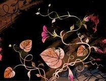 Fundo floral do Grunge fotografia de stock royalty free