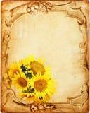 Fundo floral do Grunge imagens de stock royalty free