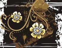 Fundo floral do grunge ilustração stock
