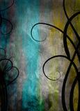 Fundo floral do grunge da quadriculação Foto de Stock Royalty Free