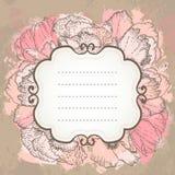 Fundo floral do grunge do casamento cor-de-rosa do vetor. Fotos de Stock Royalty Free