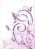 Fundo floral do grunge do vetor Imagem de Stock