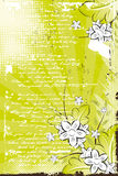 Fundo floral do grunge do vetor Imagens de Stock Royalty Free