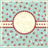 Fundo floral do grunge do vintage Fotos de Stock Royalty Free