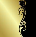 Fundo floral do ouro Fotos de Stock Royalty Free